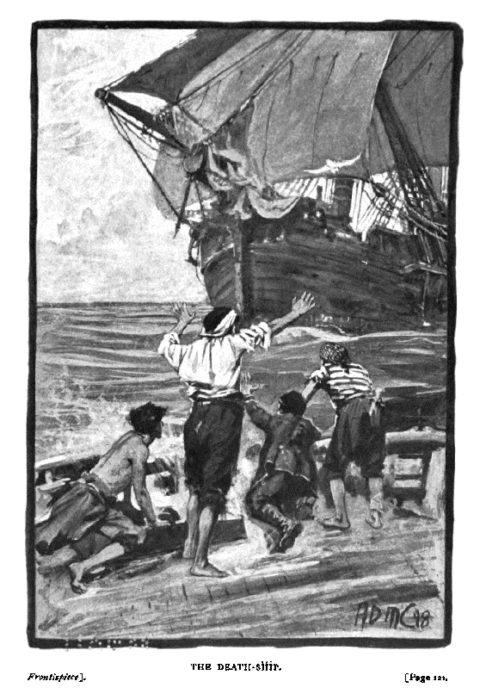 ilustración del libro Arthur Gordon Pym escrito por Edgar Allan Poe