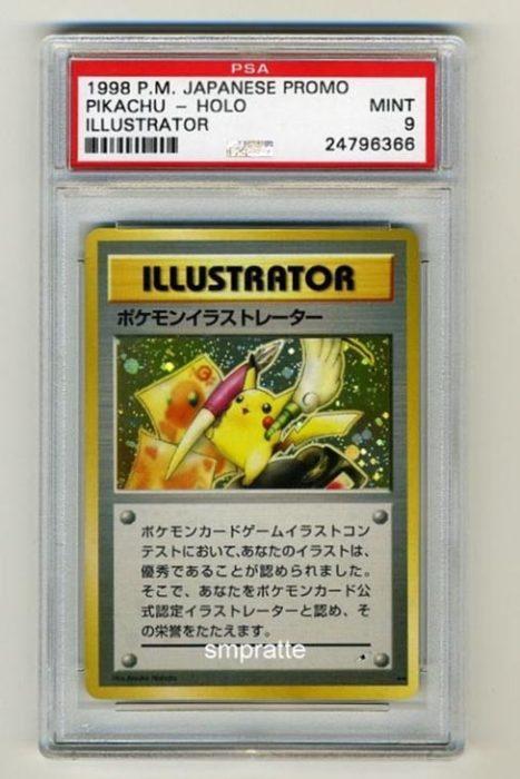 carta de pikachu primera versión
