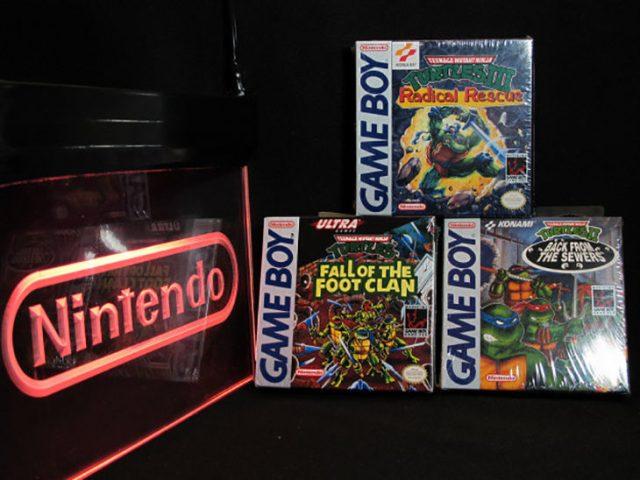 Colección de las tres videojuegos de las tortugas ninja para Gameboy