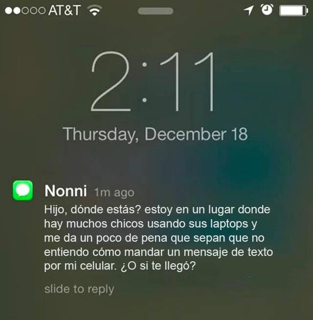 mensaje abuela