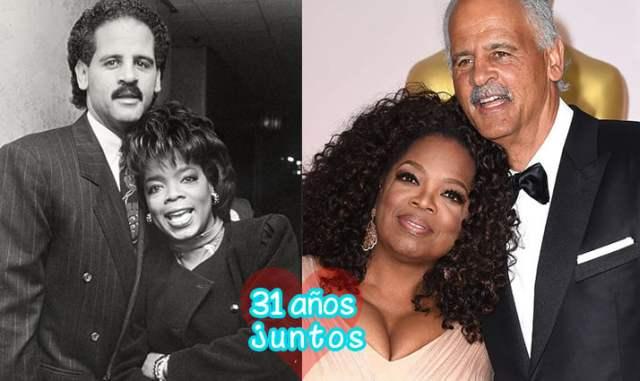 Oprah Winfrey y Stedman Graham