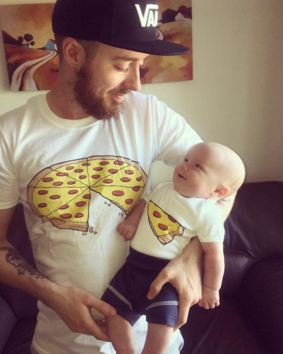 padre e hijo playeras pizza