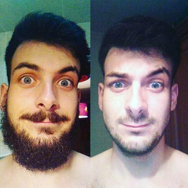 después del afeitado así quedo éste joven