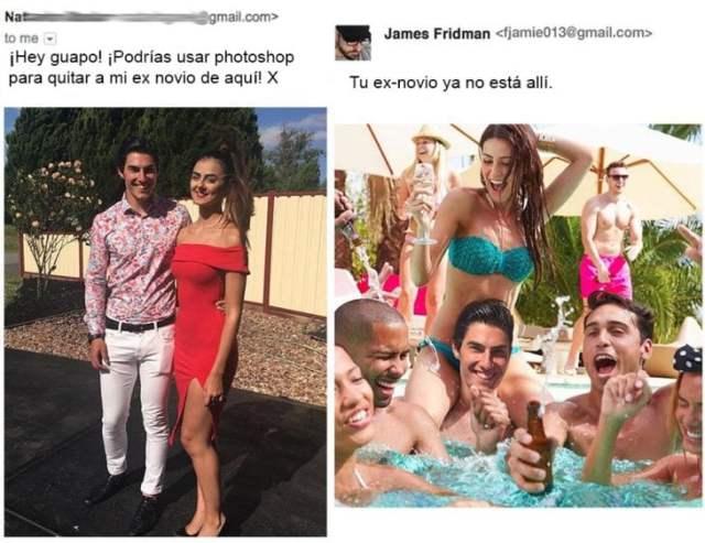 James Fridman quita al ex- novio de la chavala de su fotografia