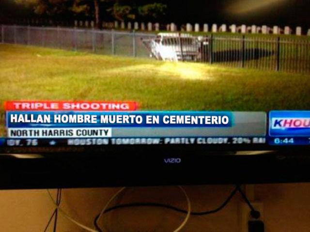 Muerto en cementerio