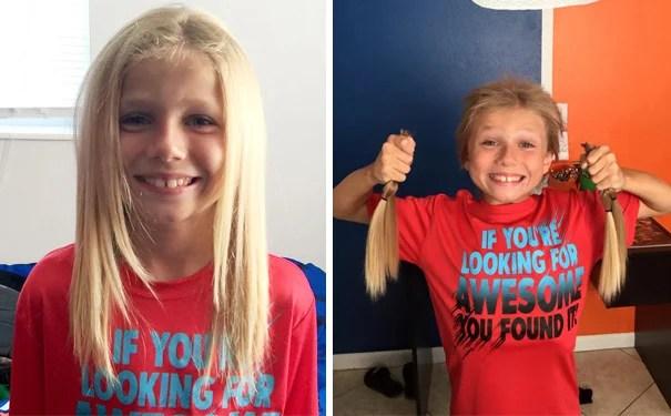 Niño se permite medrar el cabello