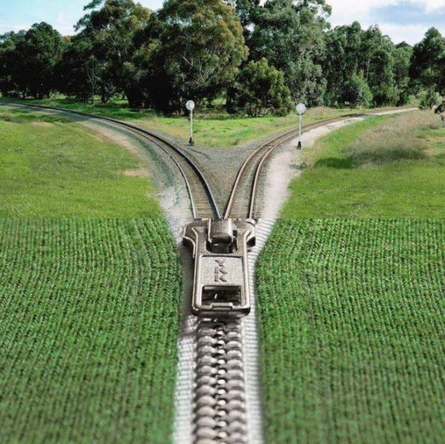 Fotomontajes - ferrocarriles cremallera