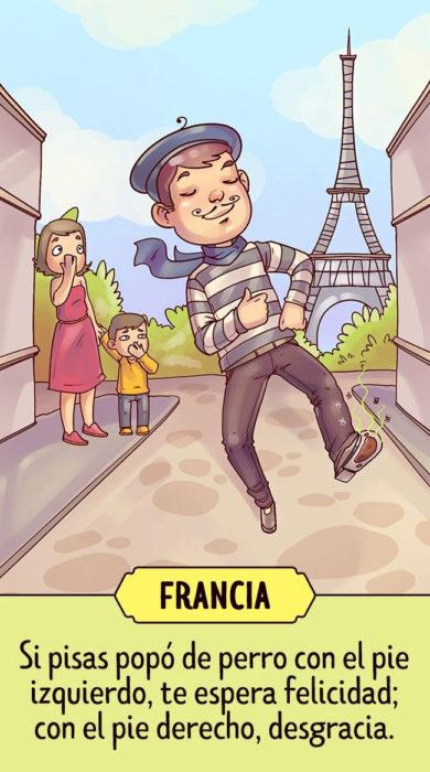 Francia Supersticiones del planeta ilustración