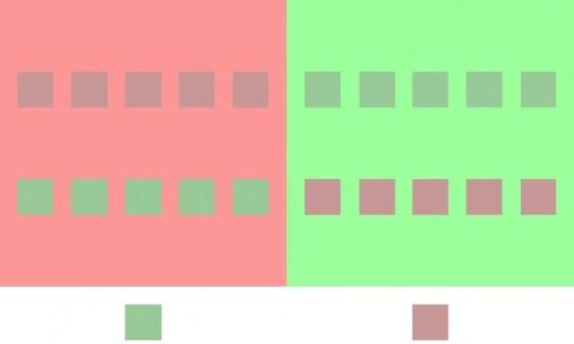 ¿De que color son los recuadros?