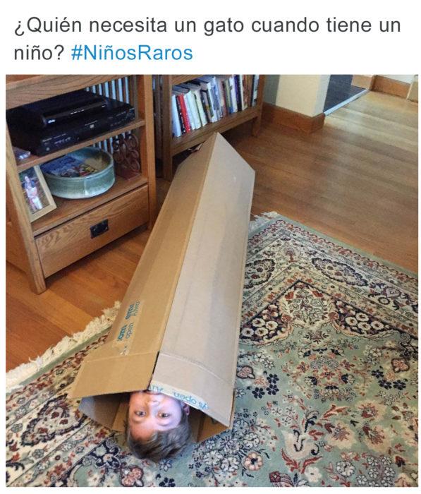 Tuits pequeños ajenos - niño en caja