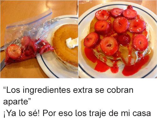 Ingredientes extra