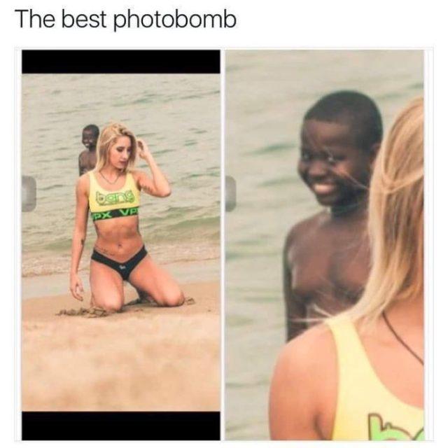 Photobomb - niño gracioso