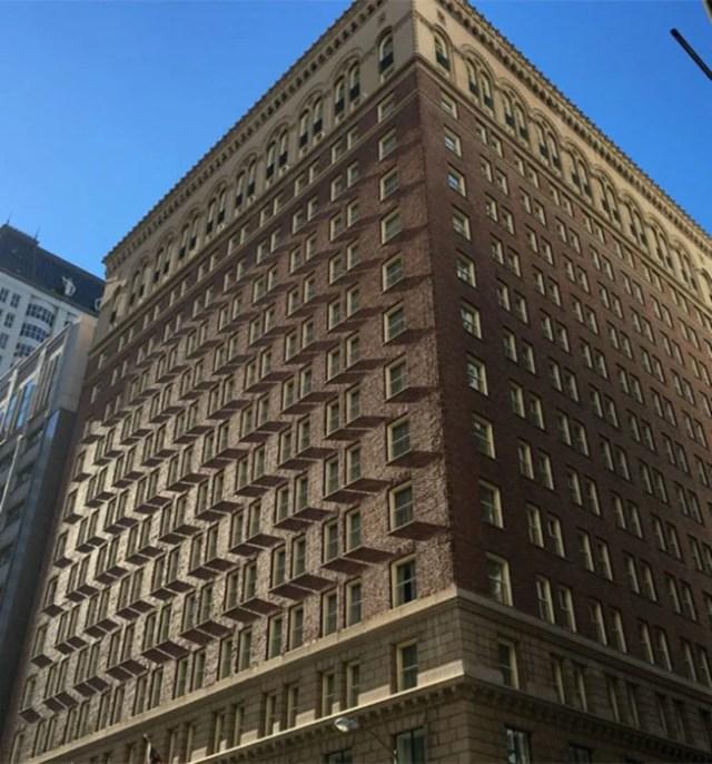 Edificio sombra efecto visual