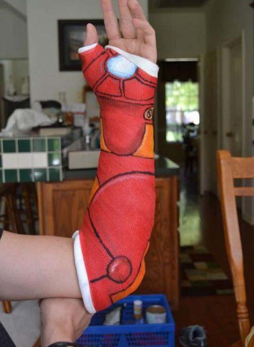 brazo vendas color rojoi iron man