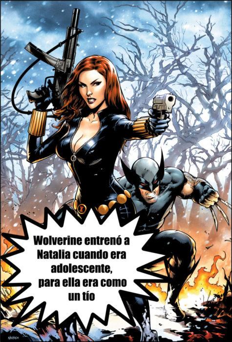 wolverine viuda negra cosmos marvel datos curiosos superhéroes