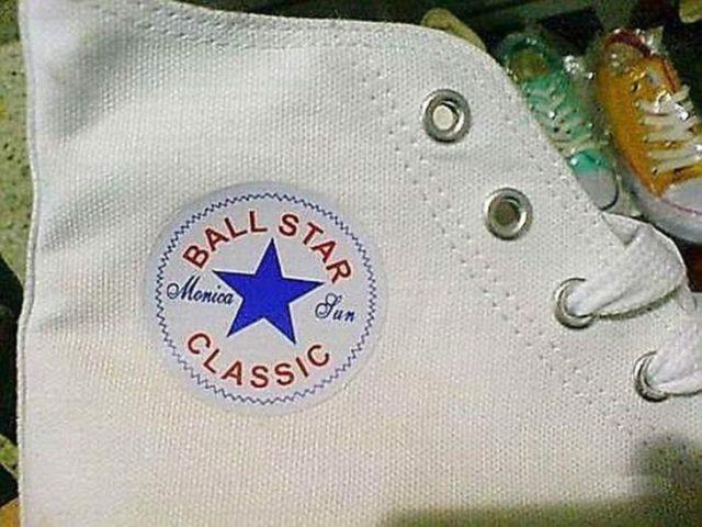 ball star la inédita imitación de los Converse