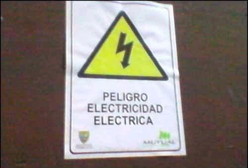 electricidad letrero