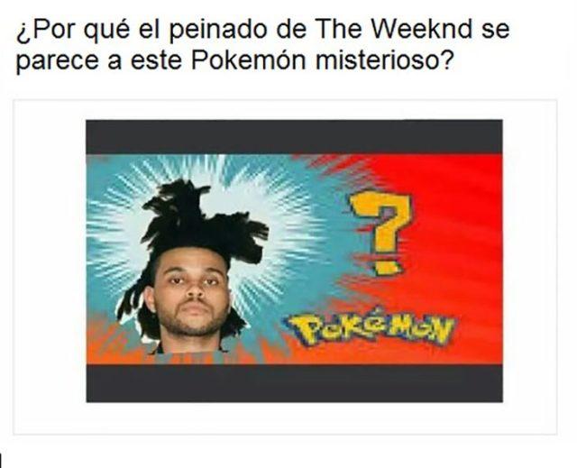 weeknd semeja Pokemón misterioso