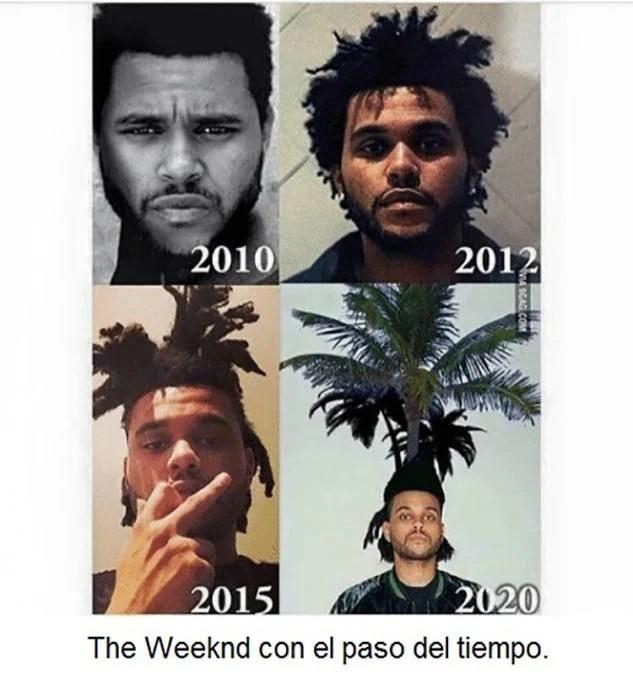 Los distintas peinados de The weeknd a lo largometraje del tiempo
