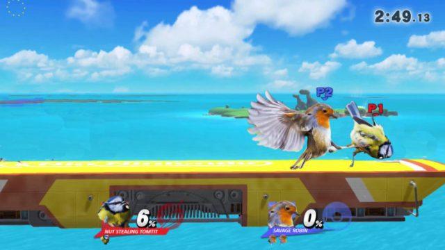 batalla vídeo juego pájaro