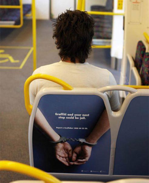 Grafitti publicidad en metro original