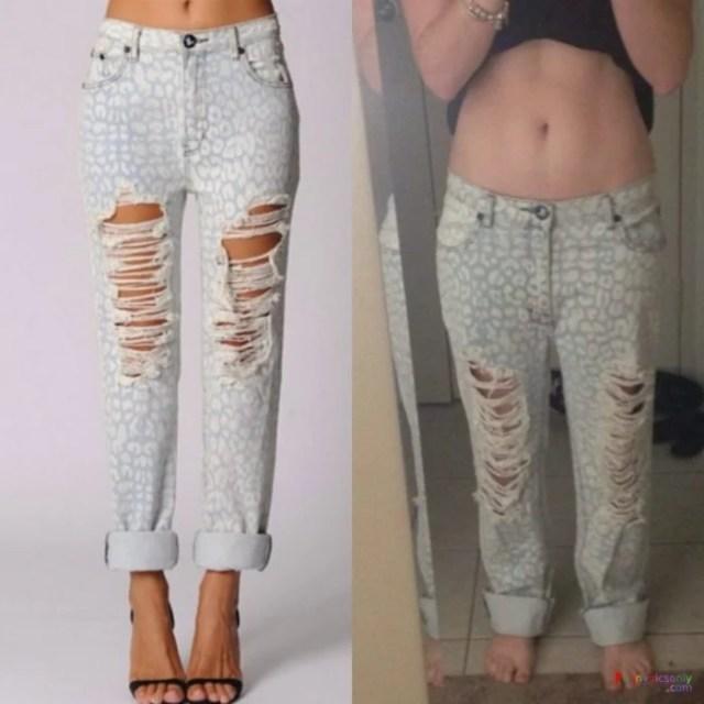 Expectativa vs Realidad - pantalones rotos