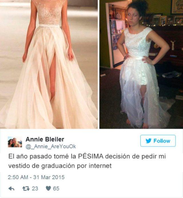 Expectativa vs Realidad - vestido blanco