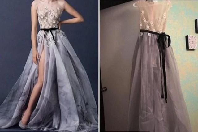 Expectativa vs Realidad - vestido romántico