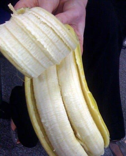 Dos plátanos en uno