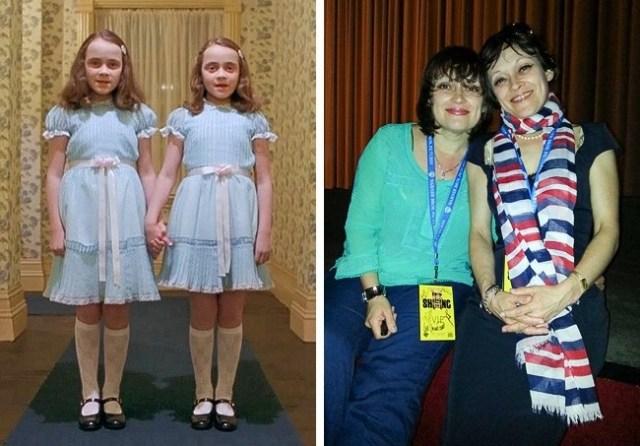 Pareja gemelas el resplandor Antes y después pequeños películas de terror