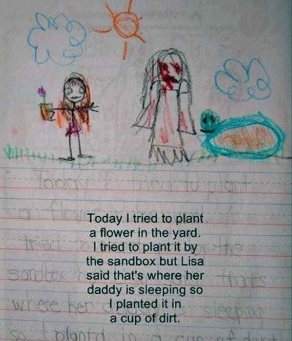 Diario de niña y amiga imaginaria bebiendo el sol