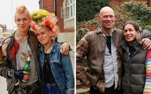 Punks antes y después peinados locos