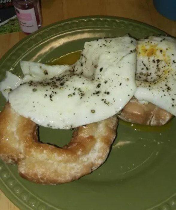 Huevo y donas antojos embarazadas