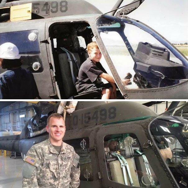 helicóptero soldado