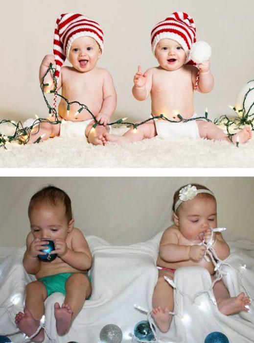 Foto bebés navidad fail