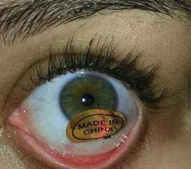 ojo hecho en china