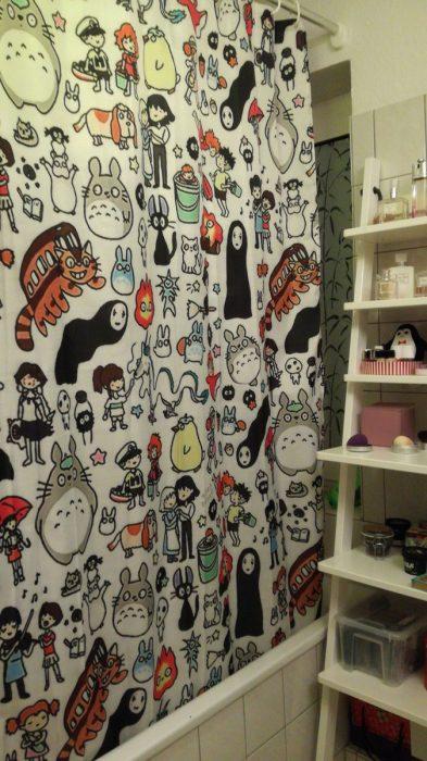 cortinas baño otaku