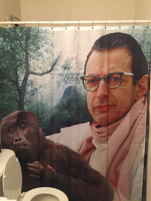 cortina de baño horrible