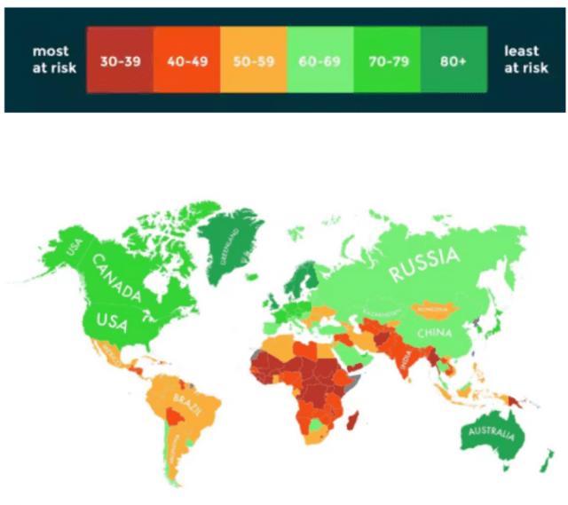 Infografía países sobreviven calentamiento global