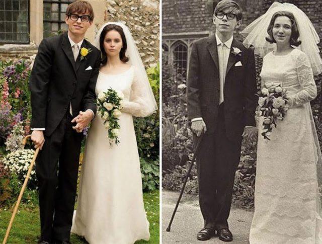 Eddie Redmayne Felicity Jones Stephen Hawking Jane Wilde