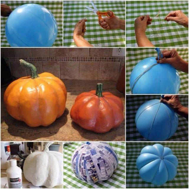 calabaza ornamental Halloween iniciativas DIY