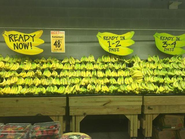 plátanos en super mercado