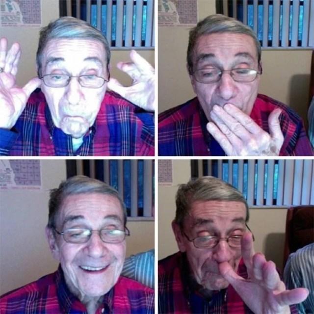Abuelitos con facebook