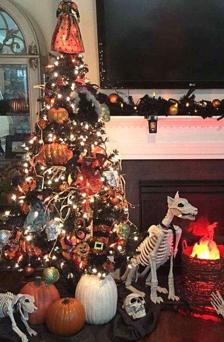 árbol navidad halloween