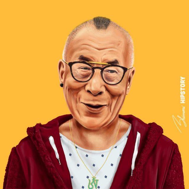 Líderes hipsters dalai