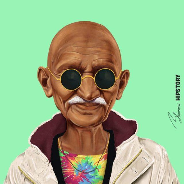 Líderes hipsters mahatma