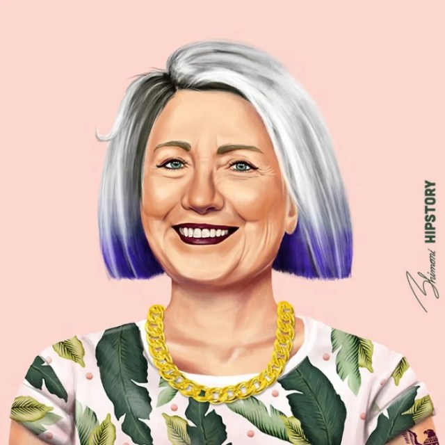 Líderes hipsters hillary