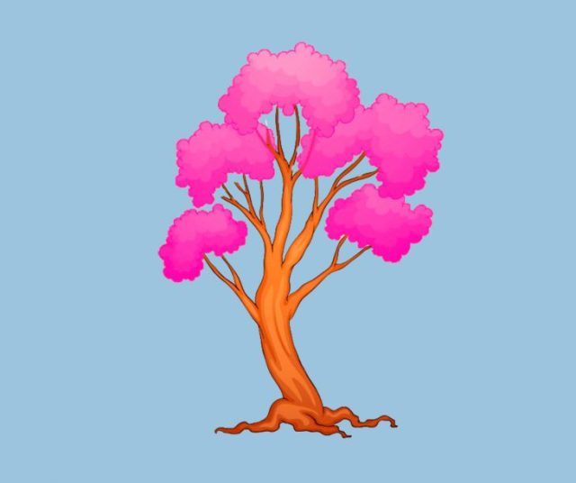 arbol rosa