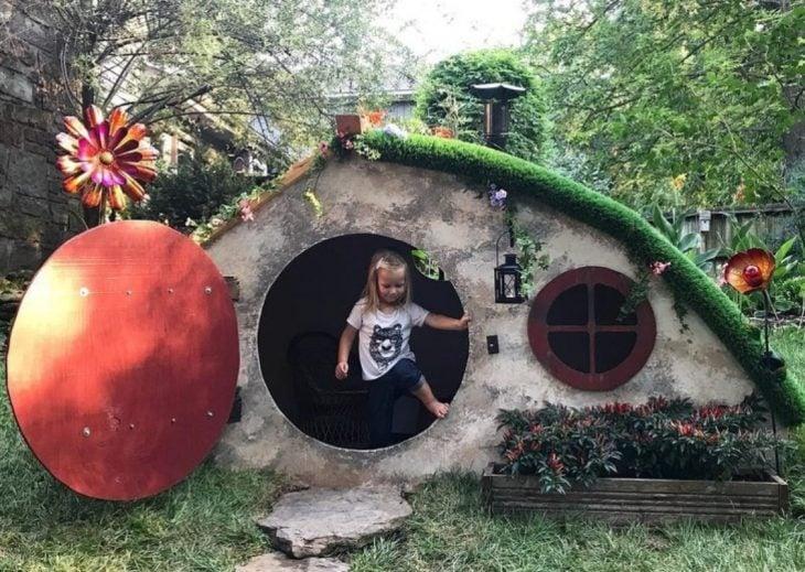 casa de hobbit para niña