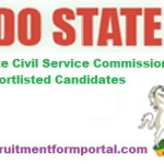 Edo State Civil Service Commission Shortlisted Candidates 2018 For Recruitment – Download Full PDF Here